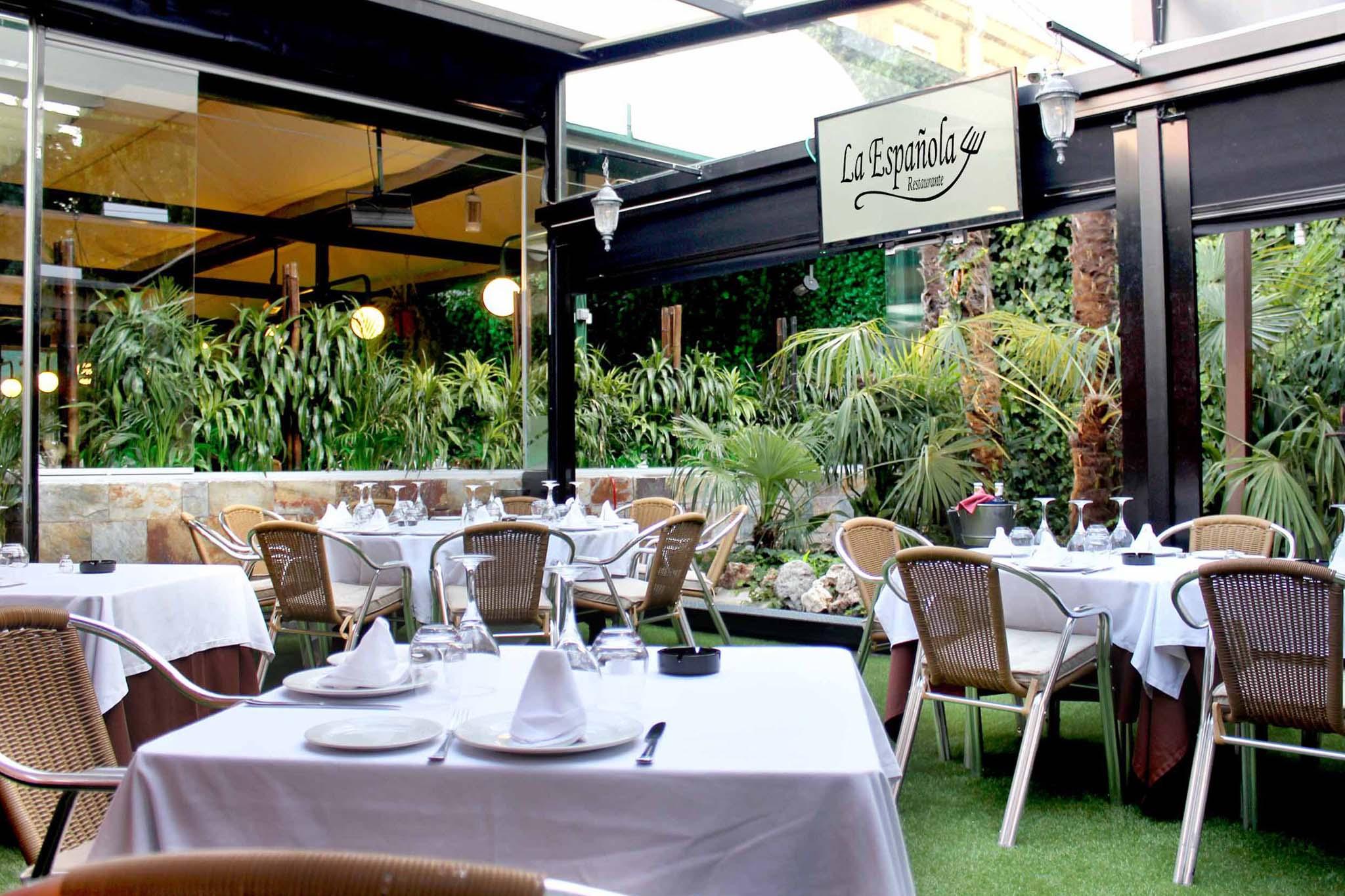 Terraza Privada Restaurante La Española Pozuelo De Alarcón