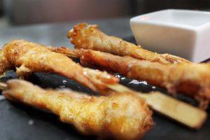 langostinos en tempura - Restaurante La Española de Pozuelo
