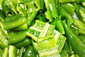 Plato de Pimientos verdes