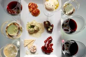 maridaje de platos y de vinos espumosos